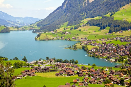 switzerland: Lungern village in Switzerland