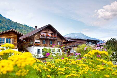 Brienz village in Switzerland photo