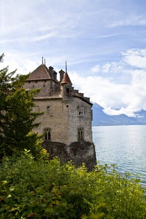 Chillon Castle in the Leman Riviera, Switzerland