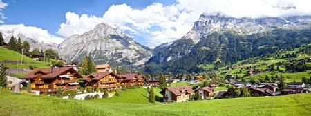 switzerland: Grindelwald Village Panorama, Switzerland