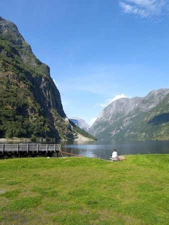 scandinavian peninsula: Naeroyfjord, Norway