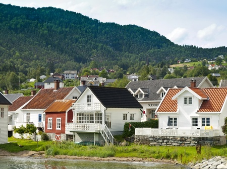 Solvorn harbour in the Sognefjord, Norway
