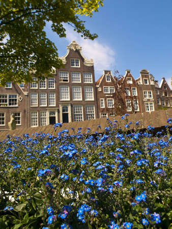 The Begijnhof is one of the oldest inner courts in the city of Amsterdam  A group of historic buildings, mostly private dwellings, centre on it  As the name suggests, it was originally a B�guinage  Today it is also the site of the English Reformed Church Stock Photo - 12811426