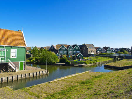 Old Fishing Green Cottages On The Island Of Marken Netherlands - Where is the netherlands located