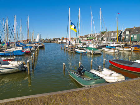 marken: Small Rural Harbor in Marken Village, nearby Amsterdam Stock Photo