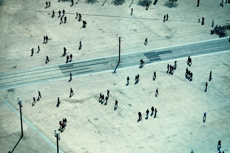 People in Alexanderplatz, Berlin photo
