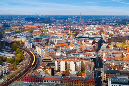 Aerial View of Berlin, Germany Stock Photo