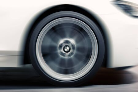 Car Wheel in Motion photo