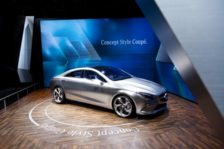 benz: MADRID, SPAIN - MAY 25  Mercedes Concept Style Coupe Prototype