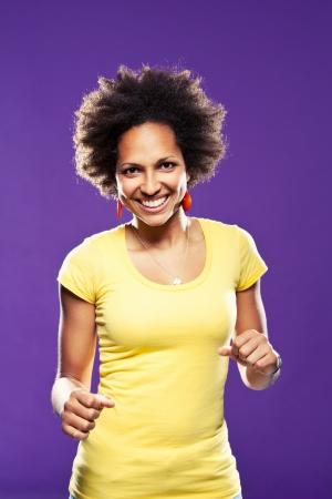 Afro American Woman Portrait photo