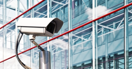 city surveillance: Security Camera in a Modern Office