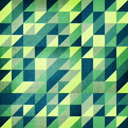 Green Retro Modern Triangle Based Background  photo