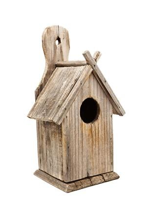 Wooden Bird House Isolated photo