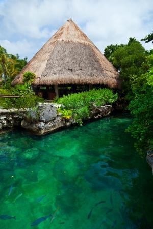 Heavenly lagoon in the Mayan Riviera