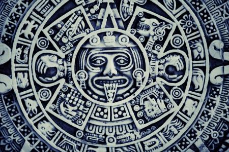 aztec art: Mayan Calendar Background
