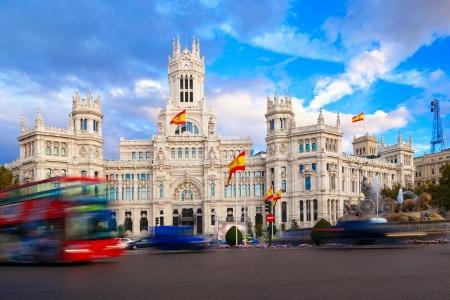 palacio de comunicaciones: Palacio de Comunicaciones and Cibeles Fountain, Madrid, Spain