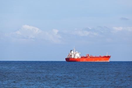 Big Chemical Tanker in the Atlantic Ocean photo