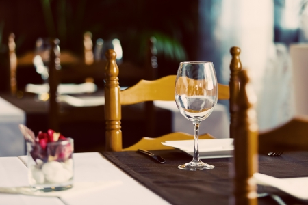 Old Restaurant Interior with Wooden Furniture Stock Photo - 16689885