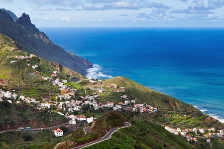 View of Taganana Village, Tenerife, Spain Stock Photo