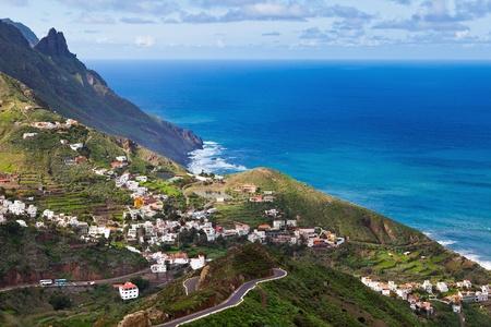 View of Taganana Village, Tenerife, Spain Stock Photo