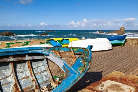 Abandoned Rowboats in Taganana Coast, Tenerife photo