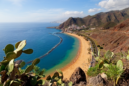 island paradise: View of Las Teresitas Beach, Tenerife, Spain