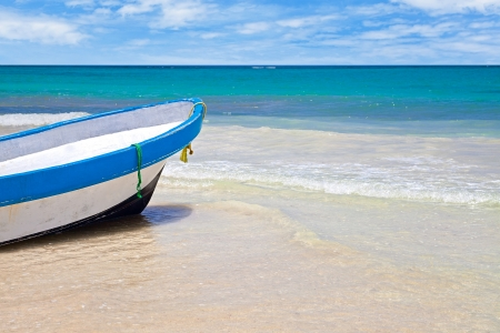 mayan riviera: Rowboat in Playa Paraiso, Mayan Riviera, Mexico