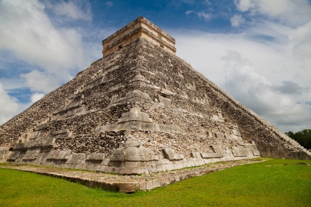 Pyramid of Kukulkan, a Mesoamerican step-pyramid that dominates the center of the Chichen Itza archaeological site in the Mexican state of Yucatan, Mexico photo