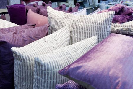 furniture store: Detail of Pink Cushions