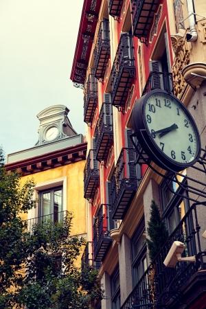 Classic Architecture in Postas Street, Madrid, Spain photo