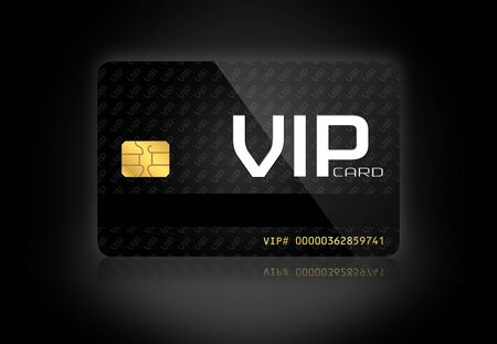 Elegant VIP Card in a Dark Background photo