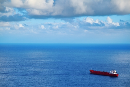 Big Chemical Tanker in the Atlantic Ocean photo