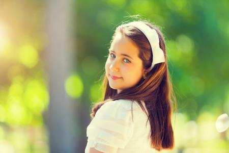 Portrait of a Cute Little Girl in her First Communion Day Stock Photo - 20605823