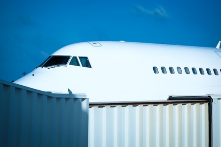 Detail of a Modern Aeroplane with a Boarding photo