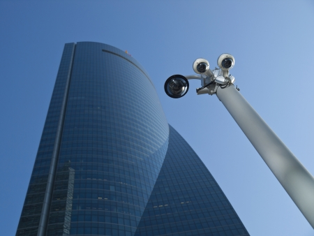 Security Cam in a Business Area