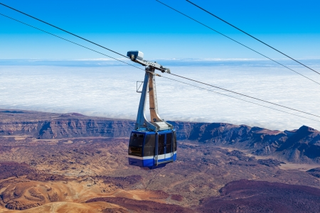 Cable Car in Teide Mountain Range, Tenerife, Spain