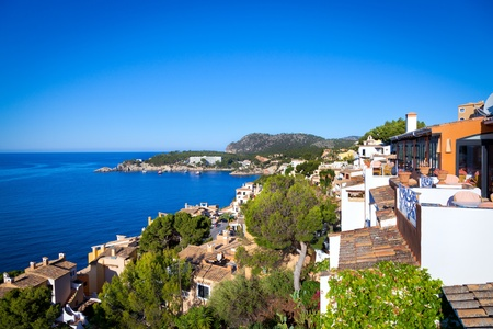 Rural Village in Paguera, Cala Fornells, Mallorca, Spain Stock Photo