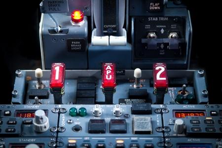 Close up vief of an Aircraft Dashboard Panel photo