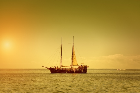 The Pirate Ship on a Summer Dusk photo