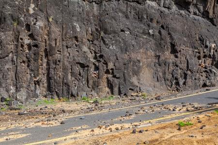 mud slide: Landslide in a Dangerous Country Road