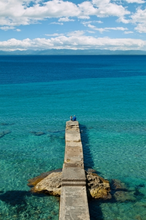 Old Stone Dock in Mallorca, Spain Stock Photo - 21364271