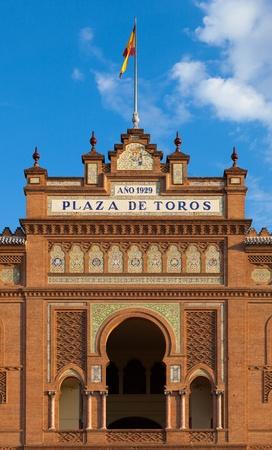 las ventas: Las Ventas Bullring Front Facade, Madrid, Spain
