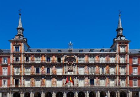 Front Facade of Plaza Mayor Building, Madrid, Spain photo