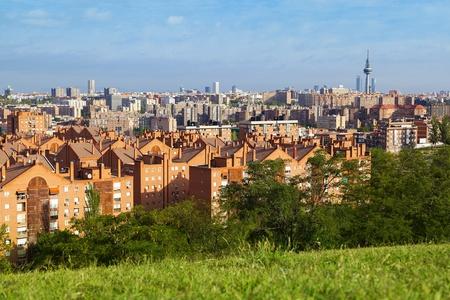 madrid  spain: Madrid Skyline from Vallecas Neighborhood