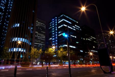 castellana: Buildings in Madrid Financial Area near Castellana Street, Spain