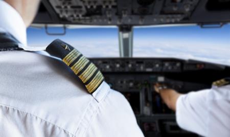 Shoulder Golden Pilot Badge Detail Stock Photo