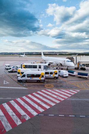 barajas: Airport Runway in Madrid Barajas Airport, Spain