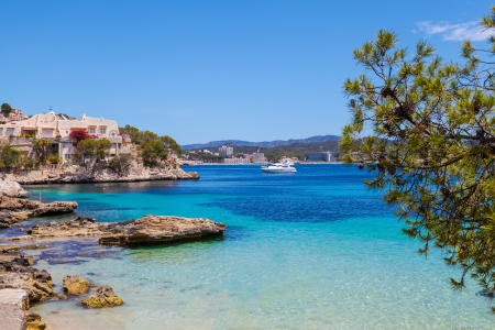spanish landscapes: Cala Fornells View in Paguera, Majorca, Spain