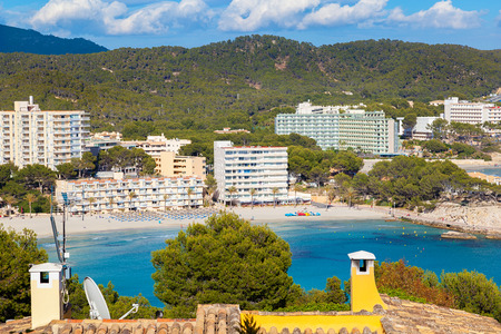 majorca: Scenic View of Paguera Beach in Majorca, Spain