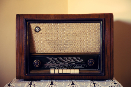 vintage radio: Old Rare Radio Stock Photo